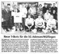 Neue Trikots für die SG Adensen/Wülfingen