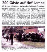 200 Gäste auf Hof Lampe